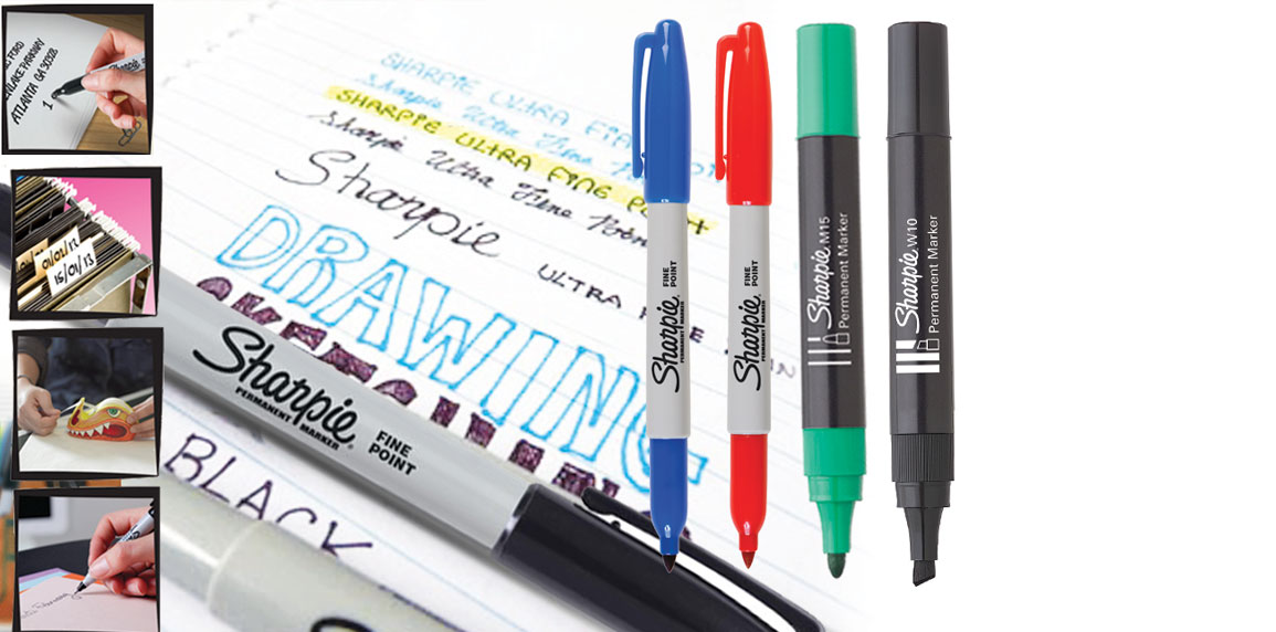 sharpie fabric marker stained fabric x8 blk ink blu red grn