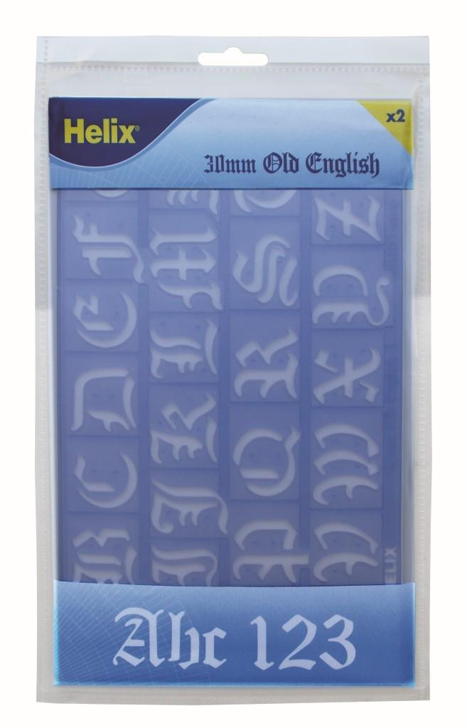 Helix Stencil Old English 30mm (Wallet)